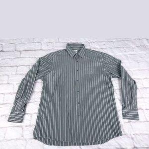 Lacoste men's button down dress shirt 42 grey